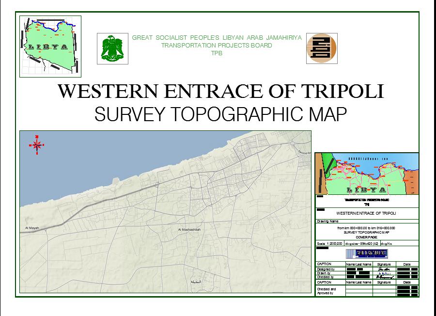 Mapa aerodrom Tripoli